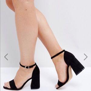 ASOS Heartache Wide Fit Heeled Sandals